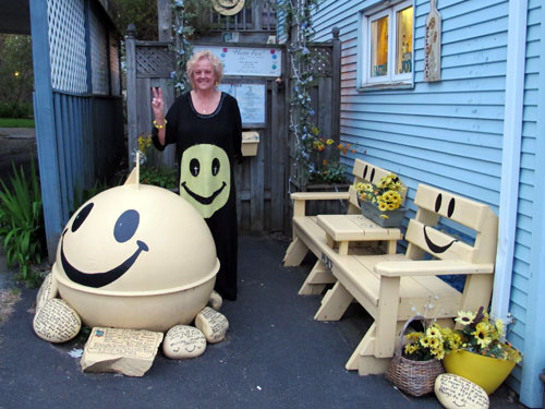 Debbie Powers at The Happy Face Museum, Halifax, Nova Scotia, Canada